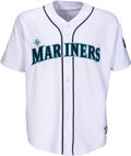 Baseball Collectibles:Uniforms, 2001 Ichiro Suzuki Game Worn & Signed Seattle Mariners Rookie Jersey, MEARS A10....