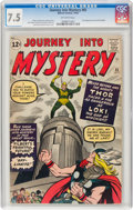 Silver Age (1956-1969):Superhero, Journey Into Mystery #85 (Marvel, 1962) CGC VF- 7.5 Off-white pages....