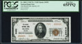 National Bank Notes:Nevada, McGill, NV - $20 1929 Ty. 2 The McGill NB Ch. # 9452 PCGS Gem New 65PPQ.. ...
