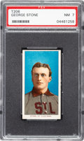 Baseball Cards:Singles (Pre-1930), 1909-11 T206 Sovereign 150 George Stone PSA NM 7 - Pop One, One Higher for Brand/Series. ...