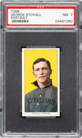 Baseball Cards:Singles (Pre-1930), 1909-11 T206 Sovereign 150 George Stovall (Portrait) PSA NM 7- Pop One, None Higher for Brand/Series. ...