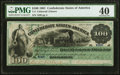 Confederate Notes:1861 Issues, T3 $100 1861 PF-2 Cr. 3 PMG Extremely Fine 40.. ...