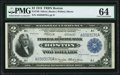 Large Size:Federal Reserve Bank Notes, Fr. 749 $2 1918 Federal Reserve Bank Note PMG Choice Uncirculated 64.. ...