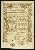 Colonial Notes:Rhode Island, Rhode Island May 1786 20s Very Fine-Extremely Fine.. ...
