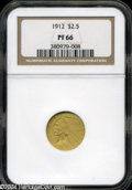 Proof Indian Quarter Eagles: , 1912 $2 1/2 PR 66 NGC. ...