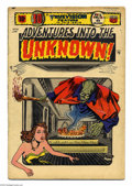 Golden Age (1938-1955):Horror, Adventures Into the Unknown Golden Group (ACG, 1953). This lotfeatures two issues of this rare title, #51 (VG) and 52 (FR),...(Total: 2 Comic Books Item)