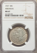 1937 50C Arkansas MS67 NGC
