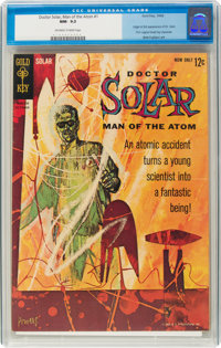 Doctor Solar, Man of the Atom #1 (Gold Key, 1962) CGC NM- 9.2 Off-white to white pages