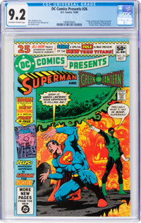 DC Comics Presents #26 Superman and Green Lantern (DC, 1980) CGC NM- 9.2 Off-white to white pages