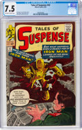 Silver Age (1956-1969):Superhero, Tales of Suspense #42 (Marvel, 1963) CGC VF- 7.5 Off-white to white pages....