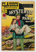 Golden Age (1938-1955):Classics Illustrated, Classics Illustrated #44 (1B) Mysteries of Paris - First Edition (Gilberton, 1947) Condition: GD....