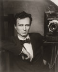 Photographs:Gelatin Silver, Edward Steichen (American, 1879-1973). Self-Portrait with Studio Camera, 1917. Gelatin silver printed by George Tice, 19...