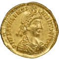 Ancients:Roman Imperial, Valentinian III (AD425-455). AV solidus (22mm, 4.46 gm, 12...