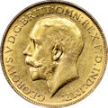 Australia: George V gold Sovereign 1927-P AU58 NGC