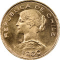 Chile, Chile: Republic gold 100 Pesos 1960-So MS67 NGC,...