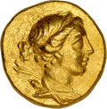 Ancients:Greek, Ancients: IONIA. Magnesia ad Maeandrum. Ca. 155-145 BC. AV stater (18mm, 8.44 gm, 12h). NGC Choice AU 5/5 - 4/5....