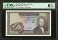 World Currency, Tunisia Banque Centrale de Tunise 5 Dinars 1.11.1960 Pick 60 PMG Choice Uncirculated 64 EPQ.. ...
