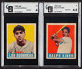 Baseball Cards:Lots, 1948 Leaf Baseball HoFers GAI-Graded Pair (2)....