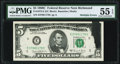Error Notes:Inking Errors, Doubling of Face Printing and Ink Smear Errors Fr. 1972-E $5 1969C Federal Reserve Note. PMG About Uncirculated 55 EPQ.. ...