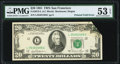 Error Notes:Foldovers, Printed Foldover Error Fr. 2073-L $20 1981 Federal Reserve Note. PMG About Uncirculated 53 EPQ.. ...
