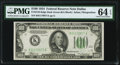 Fr. 2152-K $100 1934 Dark Green Seal Federal Reserve Note. PMG Choice Uncirculated 64 EPQ