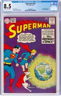 Superman #144 (DC, 1961) CGC VF+ 8.5 Off-white to white pages