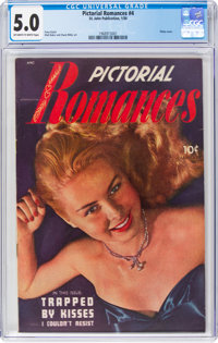 Pictorial Romances #4 (St. John, 1950) CGC VG/FN 5.0 Off-white to white pages