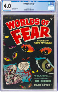 Worlds of Fear #4 (Fawcett Publications, 1952) CGC VG 4.0 Off-white to white pages
