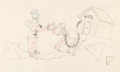 Animation Art:Production Drawing, The Mad Doctor Mickey Mouse and Pluto Animation Drawing (Walt Disney, 1933). ...