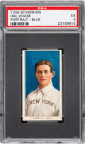 Baseball Cards:Singles (Pre-1930), 1909-11 T206 Sovereign 460 Hal Chase (Blue-Portrait) PSA EX 5 - Pop One, None Higher for Brand. ...