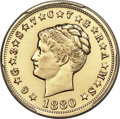 1880 $4 Coiled Hair, Judd-1660, Pollock-1860, JD-1, Low R.7 -- Polished -- PCGS Proof Genuine. Unc Details....(PCGS# 806...