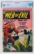 Golden Age (1938-1955):Horror, Web of Evil #11 (Quality, 1954) CBCS FN- 5.5 Off-white to white pages....