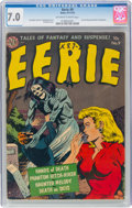 Golden Age (1938-1955):Horror, Eerie #9 (Avon, 1952) CGC FN/VF 7.0 Off-white to white pages....