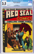 Golden Age (1938-1955):Crime, Red Seal Comics #21 (Chesler, 1947) CGC VG- 3.5 Slightly brittle pages....