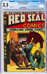 Red Seal Comics #21 (Chesler, 1947) CGC VG- 3.5 Slightly brittle pages