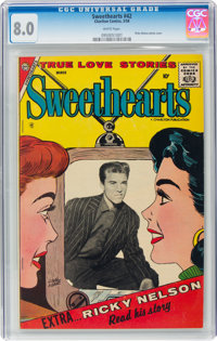 Sweethearts V2#42 (Charlton, 1958) CGC VF 8.0 White pages