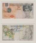 Prints & Multiples:Print, Banksy X Banksy of England. Di-Faced Tenner, 10 GBP Note (2 works), 2005. Offset lithograph in colors on paper. 3 x 5-5/...