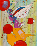 Fine Art - Painting, American, Peter Max (American, b. 1937)Flying Figure