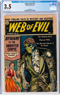 Golden Age (1938-1955):Horror, Web of Evil #12 (Quality, 1954) CGC VG- 3.5 Off-white to white pages....