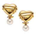 Estate Jewelry:Earrings, Cultured Pearl, Gold Earrings, Tiffany & Co.. ...