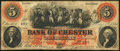 Chester, SC- Bank of Chester $5 May 1, 1860 Fine