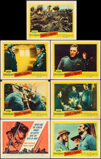 """Paths of Glory (United Artists, 1958). Overall: Very Fine-. Title Lobby Card & Lobby Cards (6) (11"""" X 14"""")..."""