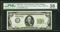 Small Size:Federal Reserve Notes, Fr. 2152-G $100 1934 Light Green Seal Federal Reserve Note. PMG Choice About Unc 58.. ...