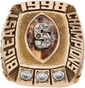 Football Collectibles:Others, 1998 Donovan McNabb Syracuse Orangemen Big East Championship Ring. ...