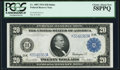 Fr. 1007 $20 1914 Federal Reserve Note PCGS Choice About New 58PPQ