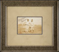 Baseball Collectibles:Photos, Circa 1928 Babe Ruth & Lou Gehrig Signed Photograph with Fantastic Ruth Inscription....