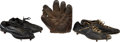 Baseball Collectibles:Others, 1920's Baseball Glove and Cleats (2)....