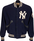 Baseball Collectibles:Uniforms, 1964-67 Mickey Mantle Game Worn New York Yankees Jacket, MEARS Authentic....