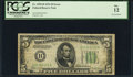 Inverted Back Error Fr. 1956-B $5 1934 Dark Green Seal Mule Federal Reserve Note. PCGS Fine 12