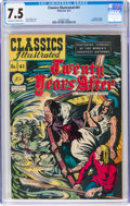 Golden Age (1938-1955):Classics Illustrated, Classics Illustrated #41 Twenty years After - First Edition (Gilberton, 1947) CGC VF- 7.5 Off-white to white pages....